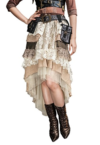 Steampunk Victorian Gothic Layered Skirt