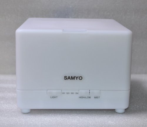 Samyo 700ml Large Capacity Aromatherapy Essential Oil Diffuser Air Humidifier Purifier with 4 Timer Settings & Color Changing Light
