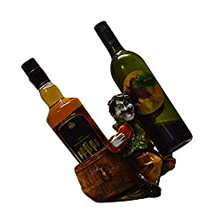 eCraftIndia Wine Holder for 2 Bottles (LxWxH - 8INx5INx8IN)