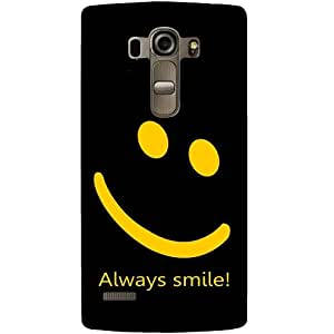 Casotec Happy Quote Design 3D Printed Back Case Cover for LG G4 Stylus