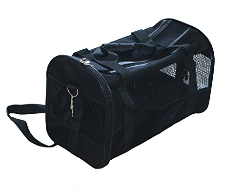 Soft Sided Travel Pet Carrier, Ultimate Comfort Airline Approved New Designed Storage for Dog and Cat (Black, Medium)