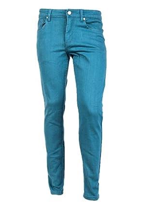 Victorious Men's Skinny Fit Color Jeans-28x30-Devil Blue
