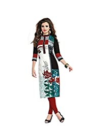 JAIPUR FABRICS Ethnicwear Women's Kurti Fabric Multi-Coloured Free Size