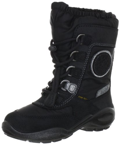 Ecco ECCO WINTER QUEEN Boots Girls Black Schwarz (Black/Black/Titanium/ Veloursleder 53879) Size: 9 (27 EU)