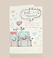 Cute Birds Wedding Day Card