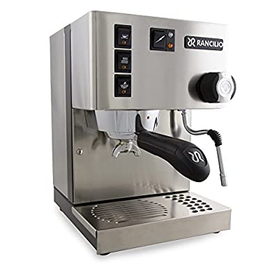 Rancilio Silvia Espresso Machine with Iron Frame and Stainless Steel Side Panels, 11.4 by 13.4-Inch from Rancilio