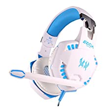 buy Bestpriceam(Tm) Over-Ear Professional Stereo Headset Headband Pc Pro Wcg Games Headphones With Mic Led Light (White)