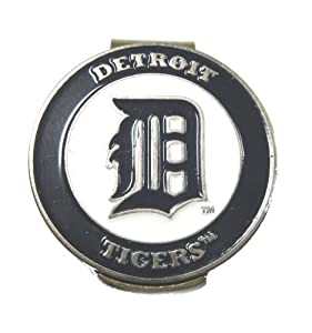 Detroit Tigers Hat Clip Marker & Divot Tool with Golf Ball Marker by Waggle Pro Shop
