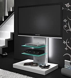 tv rack universalhalterung cu mr 70 schwarzglas mit chromfu pictures to pin on pinterest. Black Bedroom Furniture Sets. Home Design Ideas