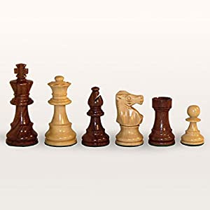 World Wise Sheesham and Boxwood Double Weight Chess Pieces