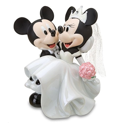Disney Parks Minnie Mickey Mouse Bride Groom Porecelin Wedding Figurine Cake Topper
