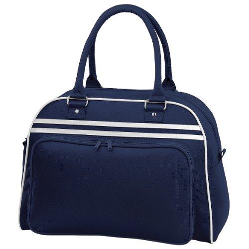 Bagbase - Borsa da Palestra 23 Litri (Taglia unica) (Blu navy/Bianco)