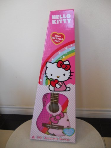 Hello Kitty Pink 30'' Designer Acoustic Guitar Brand New