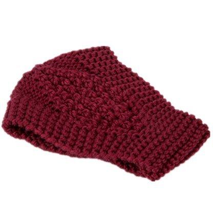 Winter Women Knit Headband Headwrap Fashion Ear Warmer Hair Accessory Wine Red
