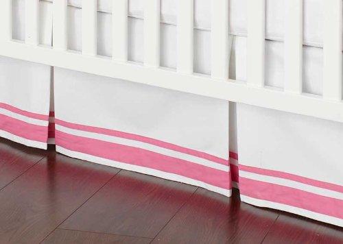 Safe Sleep Pink Crib Skirt - 1