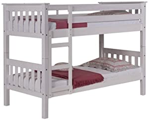 Verona Design Barcelona Bunk Bed, 171 x 145.2 x 101 cm, White Wash Pine