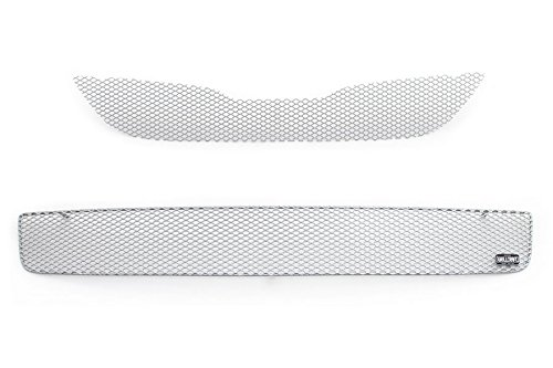 GrillCraft S1735-36S MX Series Silver Upper 1pc & Lower 1pc Mesh Grill Grille Insert for Subaru Impreza WRX (2014 Wrx Grill compare prices)