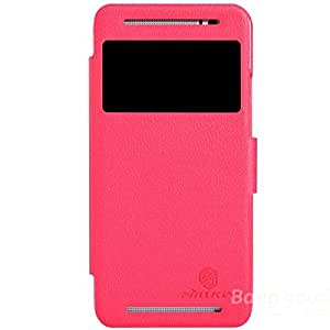 Nillkin Fresh Series Flip Leather Case Cover For HTC One E8 - Red