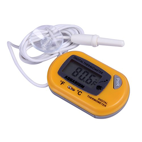 Hde digital aquarium thermometer fish tank thermostat for Aquarium thermometer
