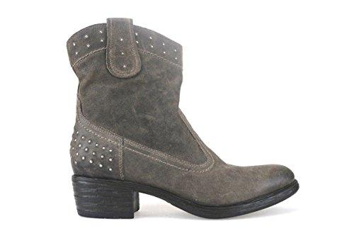 scarpe donna NERO GIARDINI stivaletti tronchetti marrone beige pelle AJ248 (37 EU)