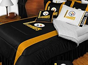 Buy Pittsburgh Steelers NFL Bedding - Sidelines Comforter and Sheet Set Combo by Sports Coverage