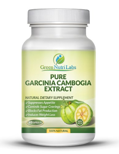 Pure Garcinia Cambogia Extract Clinically Proven Results 50 HCA 1 200 mg Per 2 Capsules Thirty 30 Days Supply Appetite Suppressant and Fat Burner 100 Natural Extract for Weight Loss