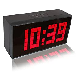RioRand Large Big Number Jumbo LED Snooze Wall Desk Alarm Clock --red Light(size:170mm*85mm*55mm)