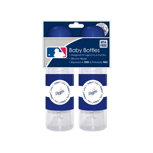 Mlb Los Angeles Dodgers Baby Bottles, 2-Pack