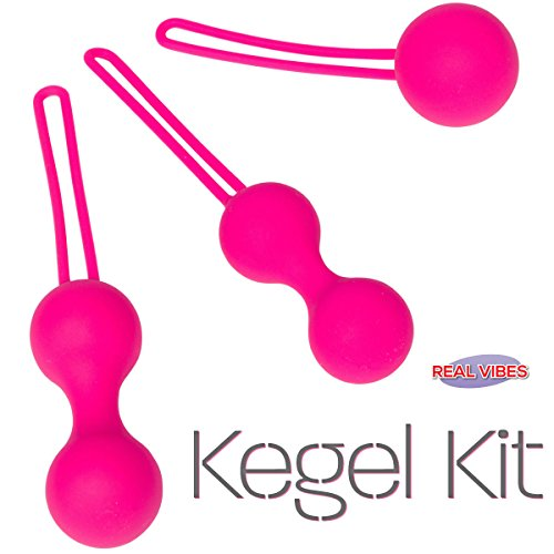 Real Vibes | Kegel Ball Kit Exercisers | Doctor Recommended | Kegel Exercise Kit For Toning and Tightening | Medical Grade | Ben Wa Weight Set (Adam And Eve Bullet compare prices)