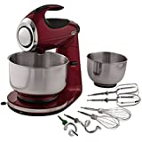 Sunbeam FPSBSM21MR-BND Heritage Series 12-Speed 350-watt Stand Mixer Bundle with Bowl, 2.2-Quart and 4.6-Quart, Red