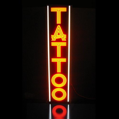 Tattoo And Piercing Light Box Sign - Led/Neon Alternative Vvr