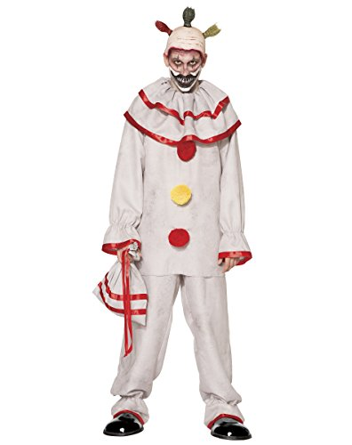 [Spirit Halloween Adult Twisty The Clown Costume American Horror Story Freak Show, L 44-46, White, L 44-46, White, L 44-46,] (Twisty The Clown Costume Mask)