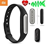 Original Newest Xiaomi 1S Band Bracelet IP67 Smart Wireless Bluetooth 4.0 Healthy Sports Miband Heart Rate Monitor for Mi Note/Pro Mi4 Redmi/Redmi2 Note/Note2 4G iPhone 5S 6 6 Plus 6S 6S Plus with IOS7.0 or Above (Newest Xiaomi Mi Band 1S)