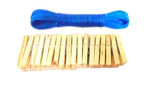 Pinces à linge bleues de la laisse
