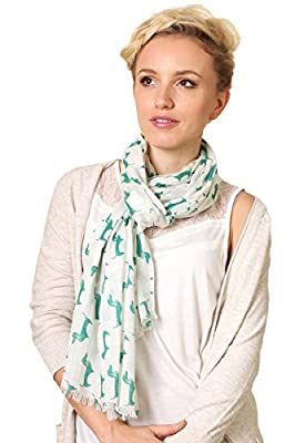 Women's Bella Dachshund Doxie Dog Print Fashion Scarf / Shawl (4 Colors)