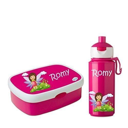 Brotdosenset-Rosti-Mepal-Brotdose-Brottrommel-Trinkflasche-Campus-Pop-up-275-ml-Brotbchse-mit-Namen-und-Wunschmotiv-pink