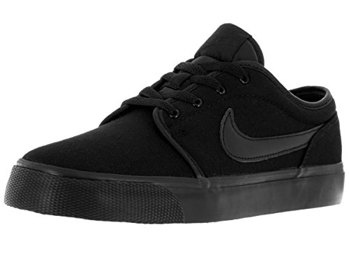 Nike Kids Toki Low Canvas (GS) Black/Black Casual Shoe 5 Kids US (Black Oasis Shoes compare prices)