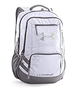 Under Armour Storm Hustle II Backpack, White (100), One Size