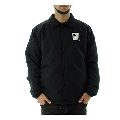 carhartt-giacca-state-pil-coach-jacket-nero-s