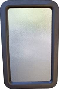 RV Camper Travel Trailer Entry Door Window w/Interior and Exterior Frame Black