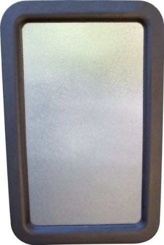 RV Camper Travel Trailer Entry Door Window w/Interior and Exterior Frame Black (Rv Door Window compare prices)