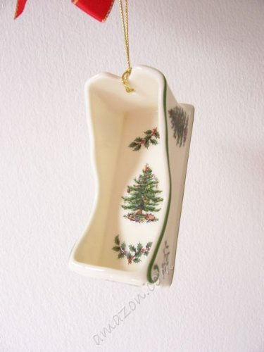 Spode Christmas Tree Sleigh Ornament