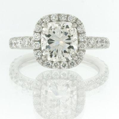 3.30ct Cushion Cut Diamond Engagement Anniversary Ring
