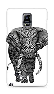 Amez designer printed 3d premium high quality back case cover for Samsung Galaxy Note 4 (lets go home Elephant)