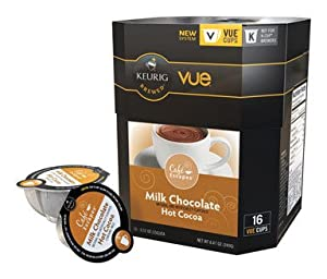 Café Escapes Vue Cups for Keurig Vue Brewers, Milk Chocolate Hot Cocoa (16 Count)