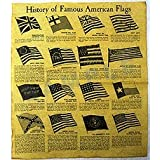 History of Famous American Flags, Poster