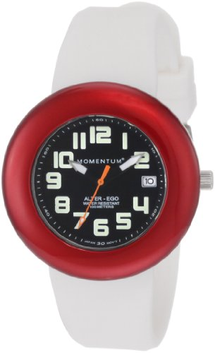 Momentum Ladies 1M-Sp99Bd1W Alter Ego Red Bezel White Band Watch