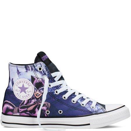 Converse Unisex Chuck Taylor All Star Hi Catwoman Sneaker Eggplant Purple (8 B(M) US)