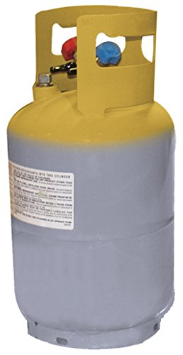 Mastercool (62010) Gray/Yellow Refrigerant Recovery Tank - 30 lb. Capacity (Freon Service Valve compare prices)
