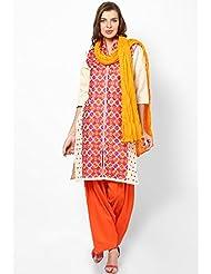 Castle Women's Dupatta (Light Orange_Free Size)